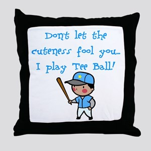 Tee Ball Boy Throw Pillow