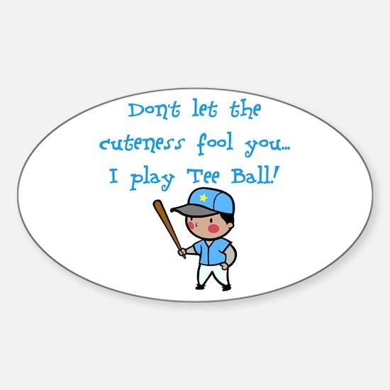Tee Ball Boy Oval Decal