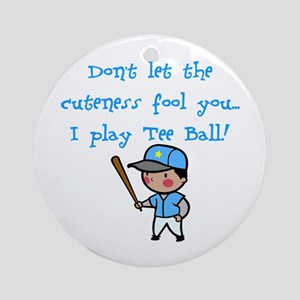 Tee Ball Boy Ornament (Round)