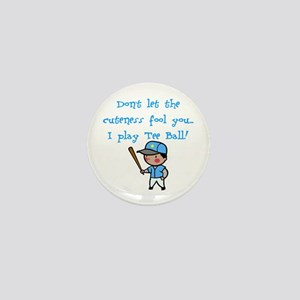 Tee Ball Boy Mini Button