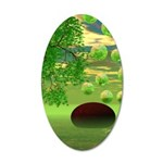 Spring Renewal Abstract 20x12 Oval Wall Decal