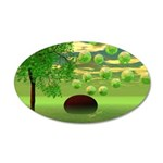 Spring Renewal Abstract 35x21 Oval Wall Decal