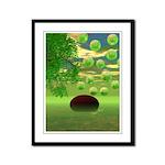 Spring Renewal Abstract Framed Panel Print