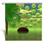 Spring Renewal Abstract Shower Curtain