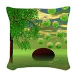 Spring Renewal Abstract Woven Throw Pillow
