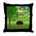 Spring Renewal Abstract Throw Pillow