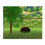 Spring Renewal Abstract Throw Blanket