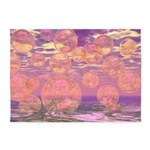 Glorious Skies Abstract Pink 5'x7'Area Rug