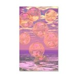 Glorious Skies Abstract Pink 35x21 Wall Decal