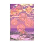 Glorious Skies Abstract Pink Mini Poster Print