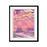 Glorious Skies Abstract Pink Framed Panel Print