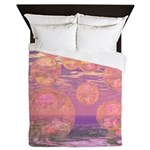 Glorious Skies Abstract Pink Queen Duvet