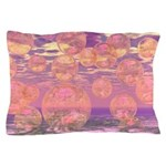 Glorious Skies Abstract Pink Pillow Case