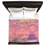 Glorious Skies Abstract Pink King Duvet