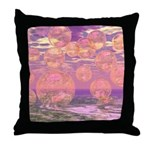 Glorious Skies Abstract Pink Throw Pillow