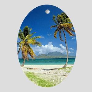 St. Kitts Nevis Oval Ornament