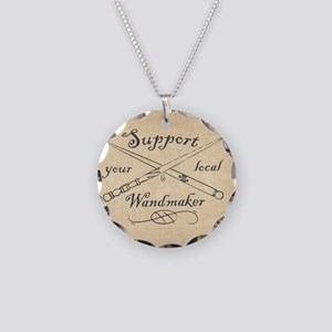 Support your local Wandmaker Necklace Circle Charm