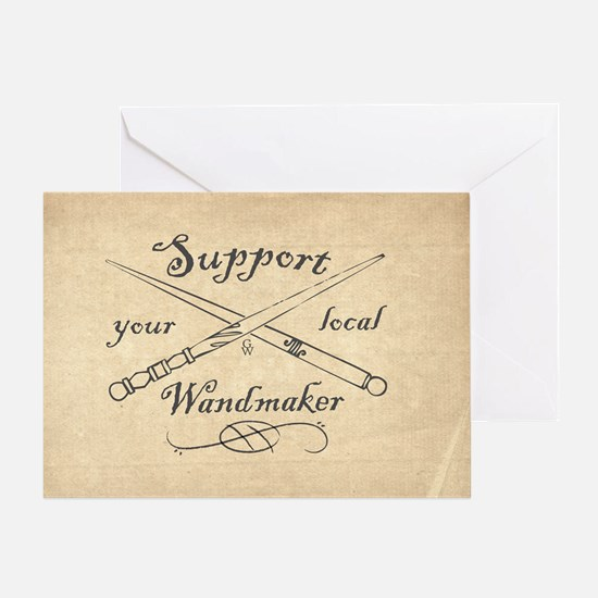Support your local Wandmaker w bkg Greeting Card