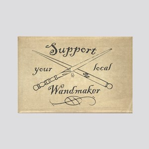 Support your local Wandmaker w bk Rectangle Magnet