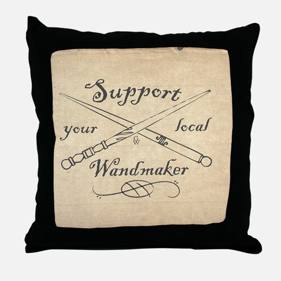 Support your local Wandmaker w bkg Throw Pillow