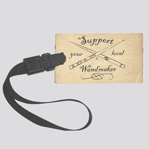Support your local Wandmaker w b Large Luggage Tag
