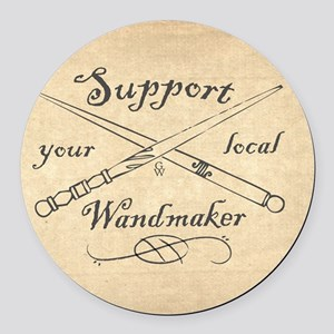 Support your local Wandmaker w bk Round Car Magnet