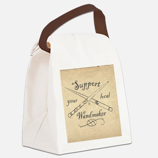 Support your local Wandmaker w bk Canvas Lunch Bag