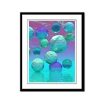 Ocean Dreams Aqua Violet Framed Panel Print