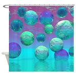 Ocean Dreams Aqua Violet Shower Curtain