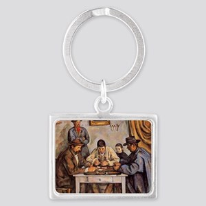 Cezanne - The Card Players (thr Landscape Keychain