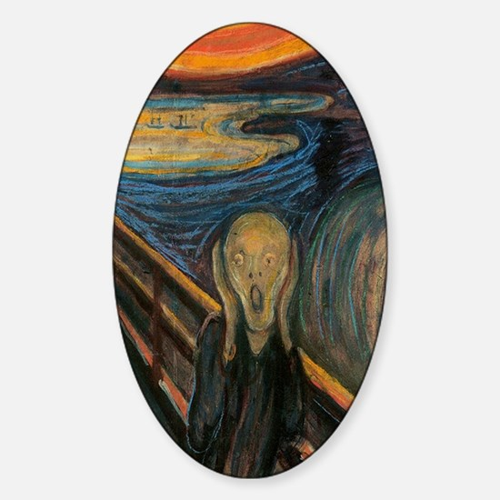 The Scream Sticker (Oval)