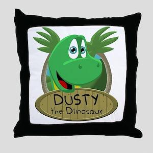 Dusty the Dinosaur - Close up Throw Pillow