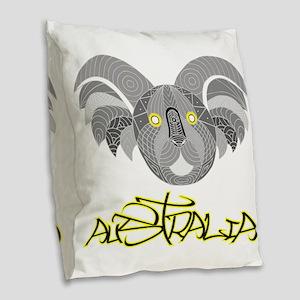 Australian Aboriginal Art - So Burlap Throw Pillow