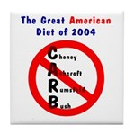 The Great American CARB Diet 2004 Tile Coaster