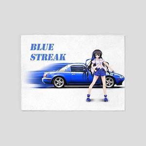 Blue Miata 5'x7'Area Rug
