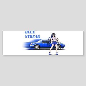 Blue Miata Bumper Sticker