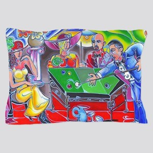 Abstract Pool Hall Pillow Case