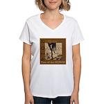Equine Theme Women's V-Neck T-Shirt #5904
