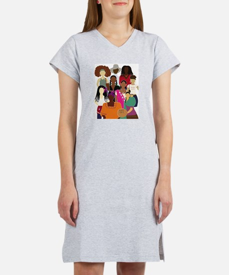 Brown Lady Collage (White Bckgrnd) T-Shirt