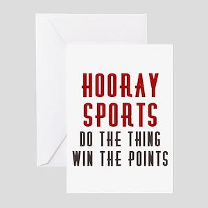 Hooray Sports Greeting Cards