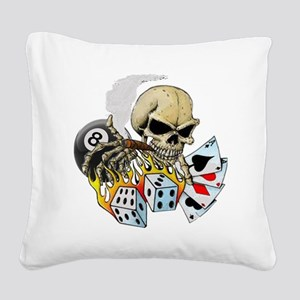 Gambler Square Canvas Pillow