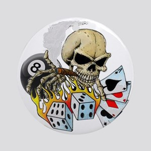 Gambler Round Ornament