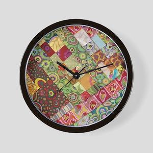 Quiltorama Wall Clock