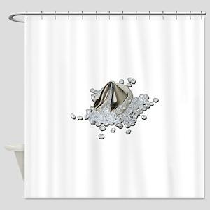 DiamondsSpillFortuneCookie082111.pn Shower Curtain