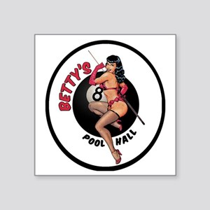 "Betty's Pool Hall Square Sticker 3"" x 3"""