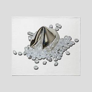 DiamondsSpillFortuneCookie082111 Throw Blanket