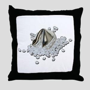 DiamondsSpillFortuneCookie082111 Throw Pillow