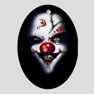 Evil Clown Oval Ornament