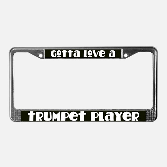 Trumpet Player License Plate Frame