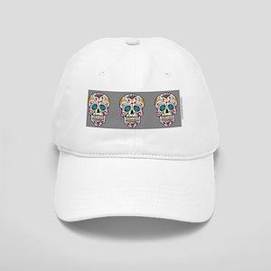 SugarSkull Halloween  Grey Cap